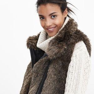 Banana Republic Faux Fur Vest Size XL NWT